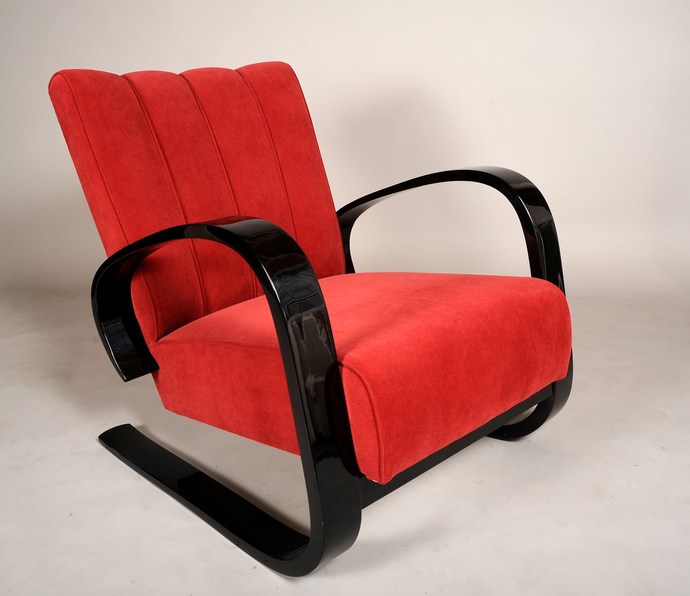 rote vintage sessel von alvar aalto 2er set bei pamono kaufen. Black Bedroom Furniture Sets. Home Design Ideas
