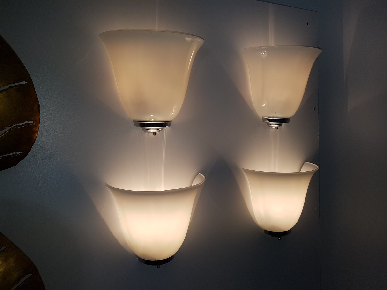 Vintage Glass Wall Sconces : Vintage Wall Sconce in Opaline Glass for sale at Pamono