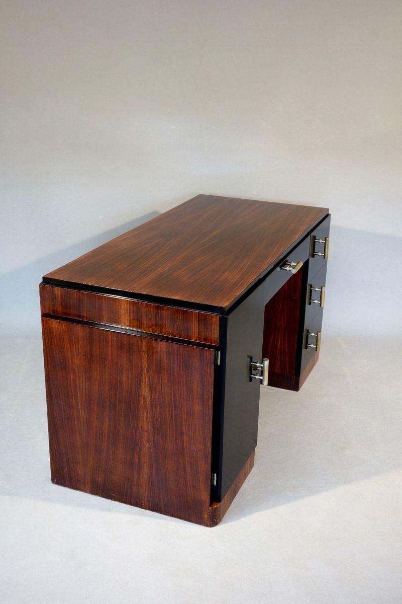 art deco schreibtisch aus palisanderholz bei pamono kaufen. Black Bedroom Furniture Sets. Home Design Ideas