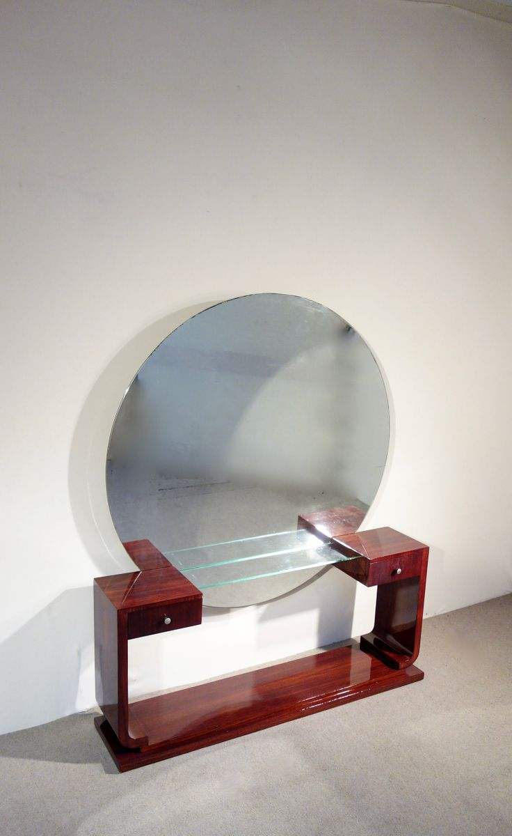 art deco dressing table with mirror for sale at pamono. Black Bedroom Furniture Sets. Home Design Ideas