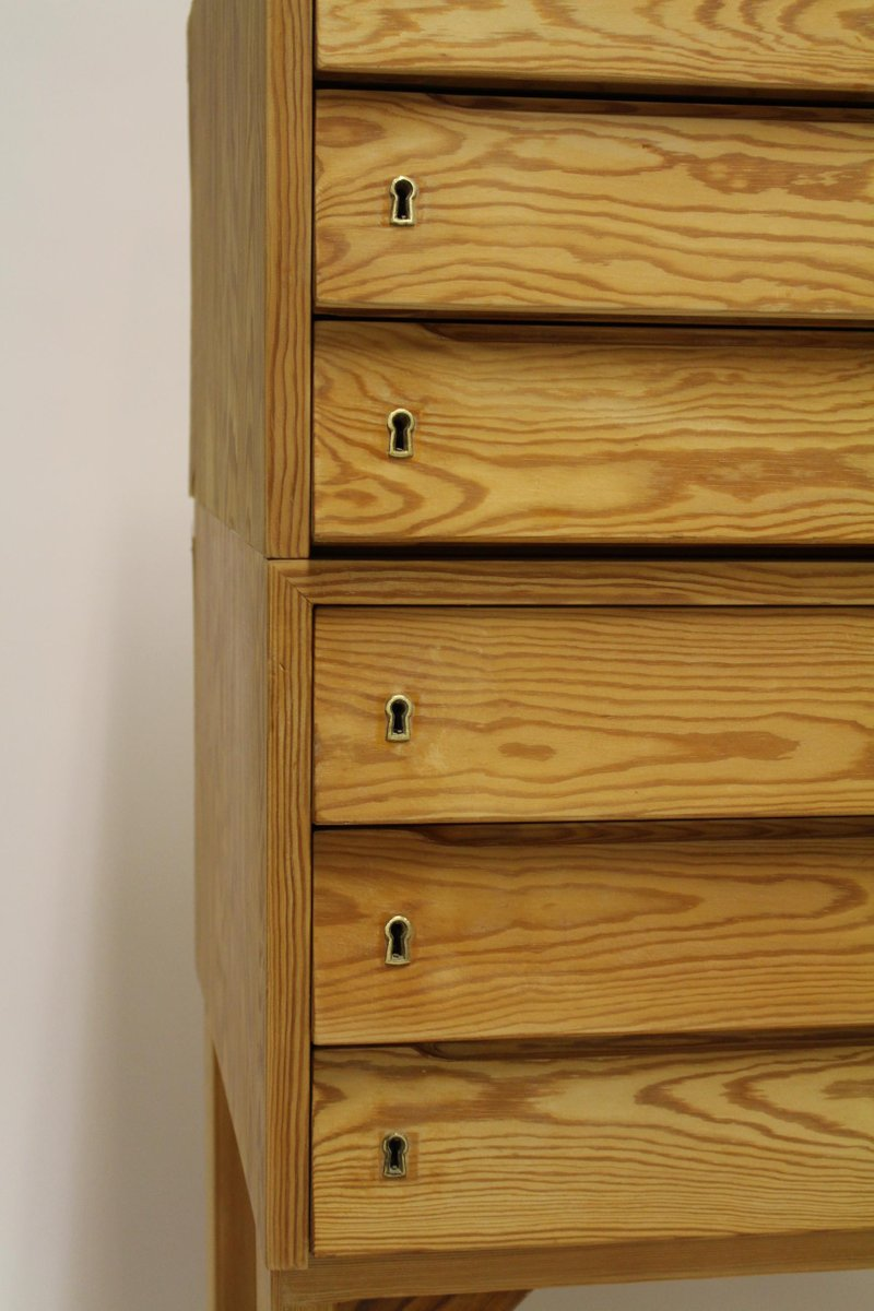 Vintage archive cabinet in pine with drawers for sale at for Kitchen drawers for sale