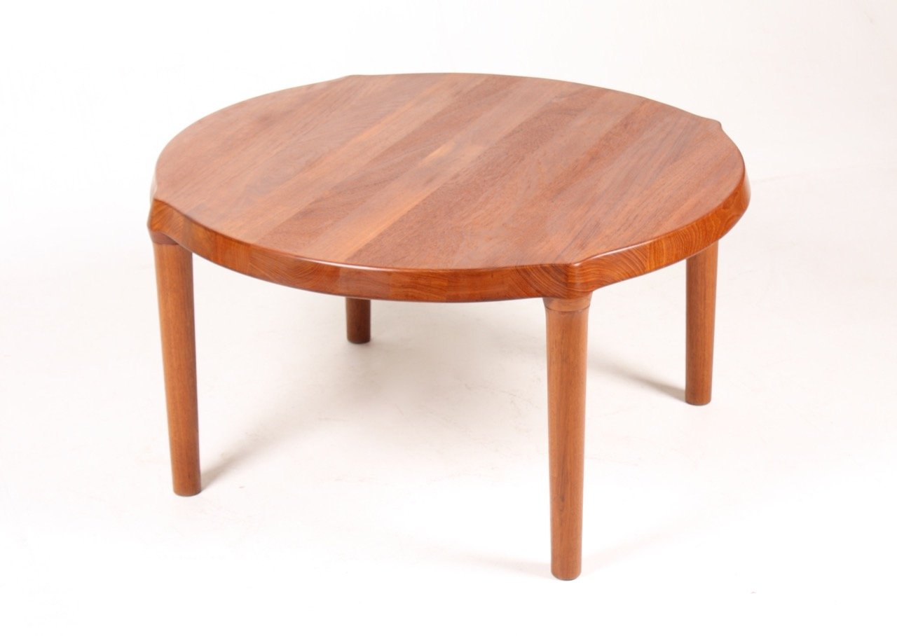 Solid teak coffee table 1960s for sale at pamono for Solid coffee table