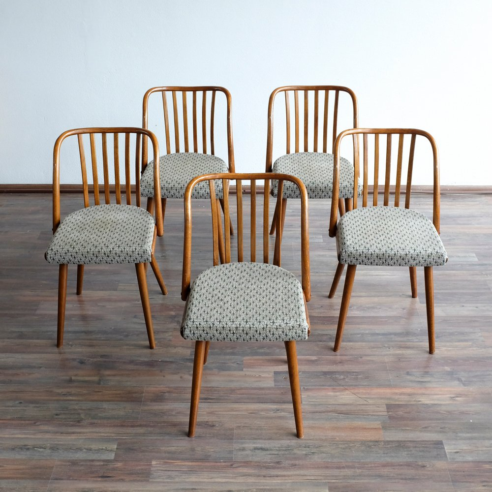 Vintage dining chairs from ton s set of for sale