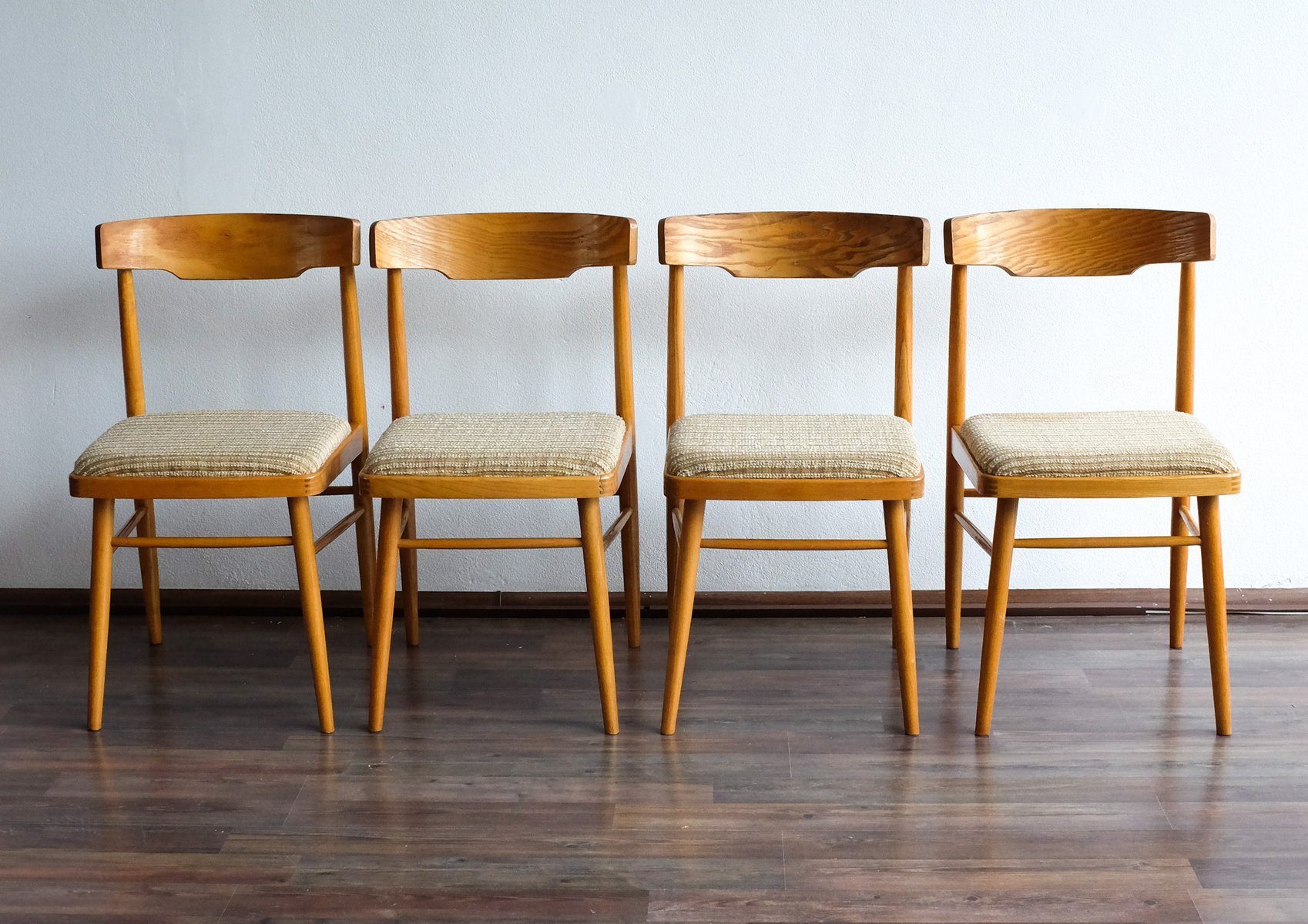 Vintage Czech Dining Chairs from TON 1960s Set of 4 for sale at