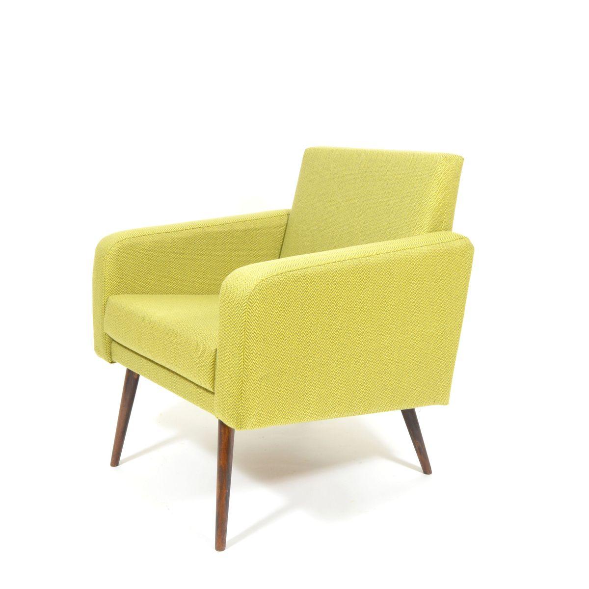 tschechischer lindgr ner vintage sessel bei pamono kaufen. Black Bedroom Furniture Sets. Home Design Ideas