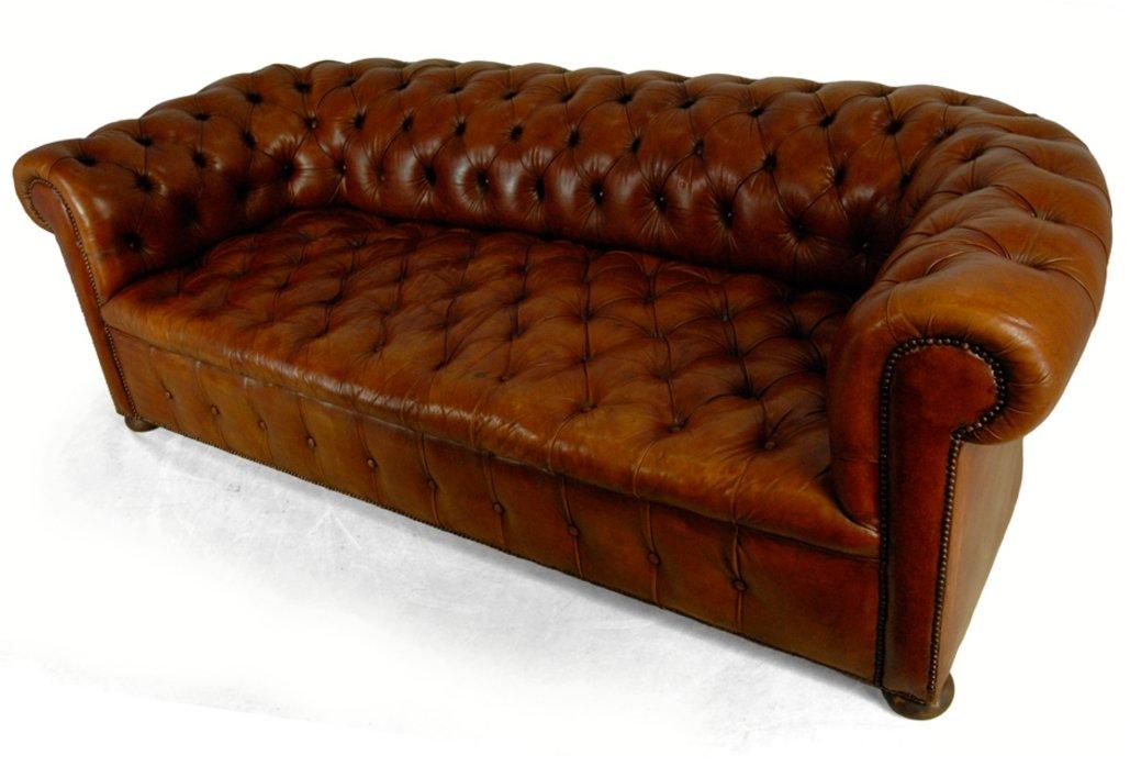 braunes vintage chesterfield ledersofa 1960er bei pamono kaufen. Black Bedroom Furniture Sets. Home Design Ideas