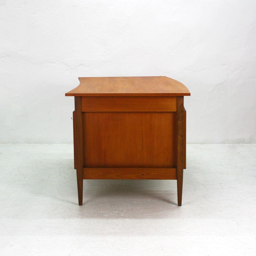 gro er teak schreibtisch von wk m bel 1960er bei pamono kaufen. Black Bedroom Furniture Sets. Home Design Ideas