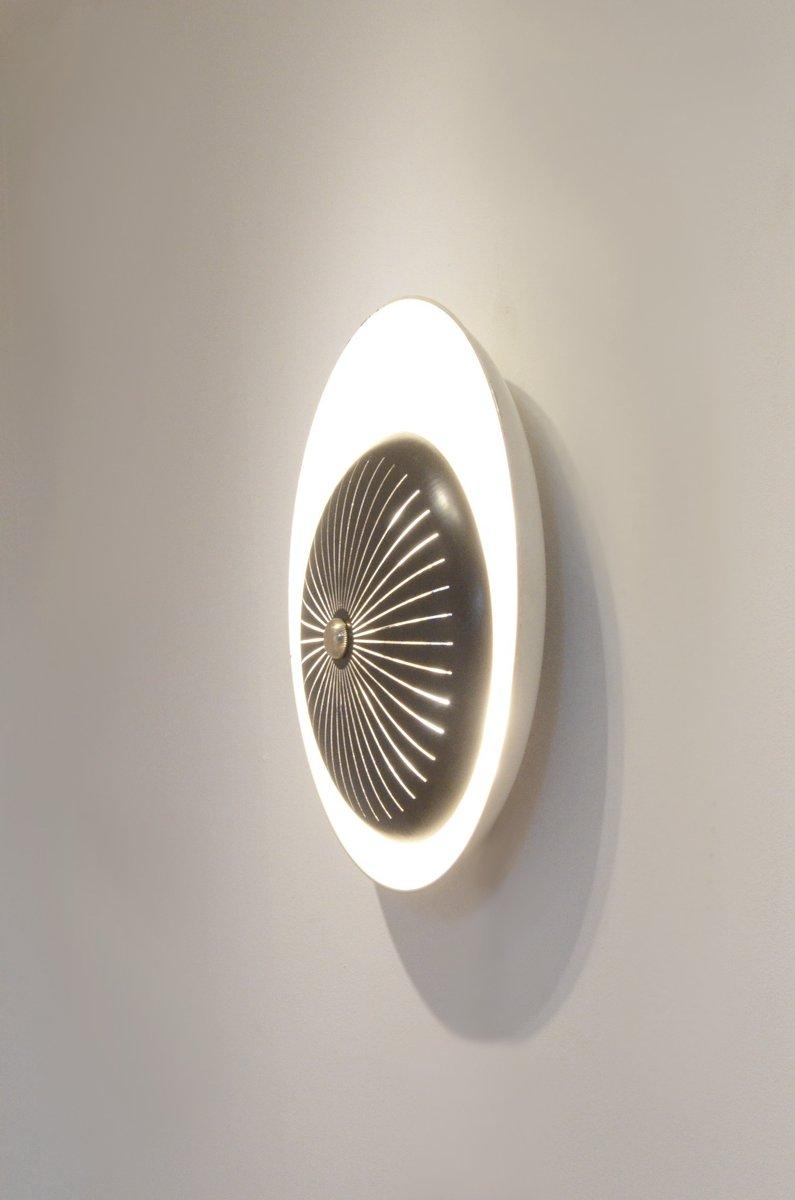 perforierte metall wandlampe in schwarz creme bei pamono. Black Bedroom Furniture Sets. Home Design Ideas