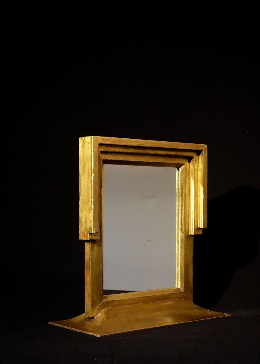 miroir de courtoisie art d co en vente sur pamono. Black Bedroom Furniture Sets. Home Design Ideas