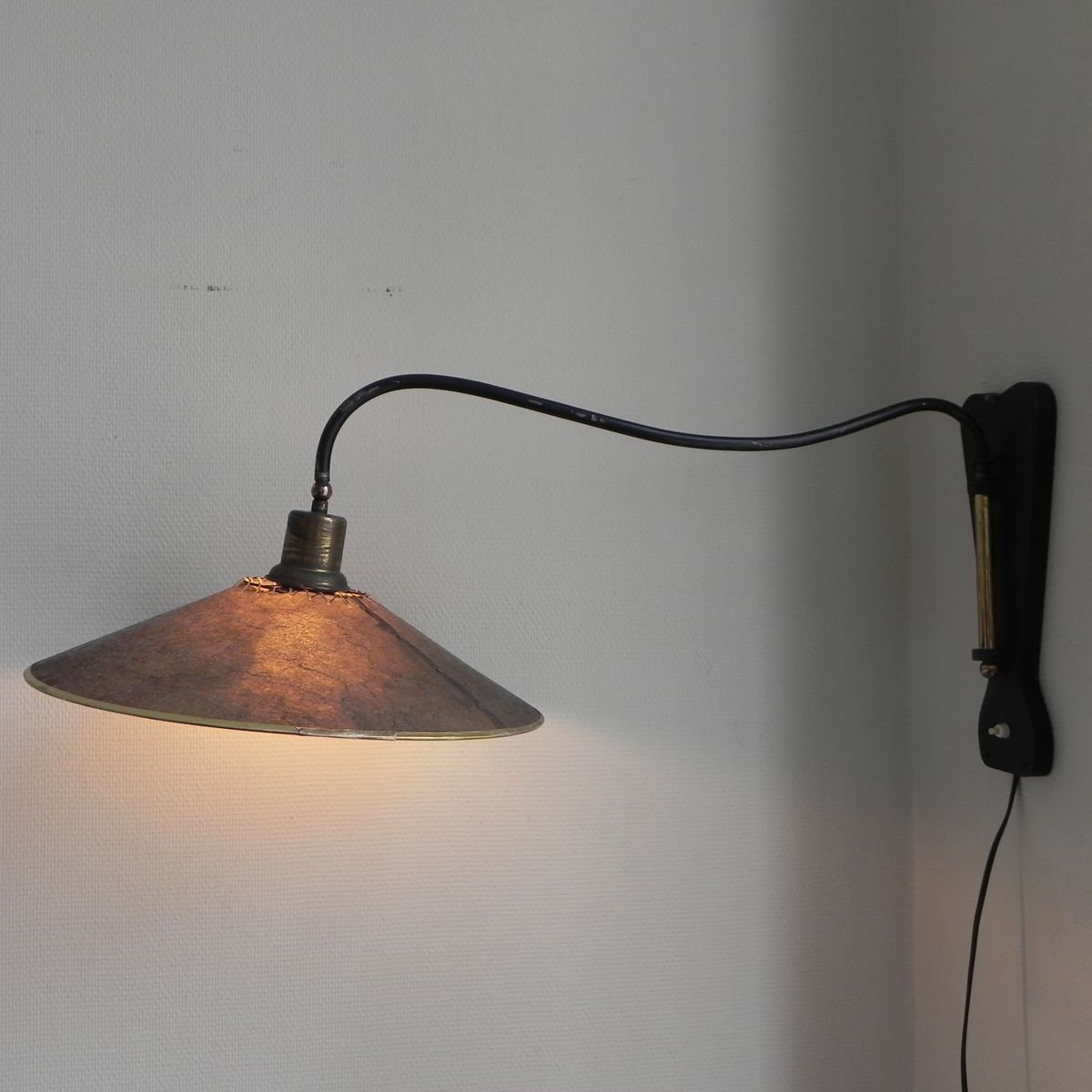 Adjustable Height Wall Lamps : Vintage Belgian Adjustable Wall Lamp, 1950s for sale at Pamono