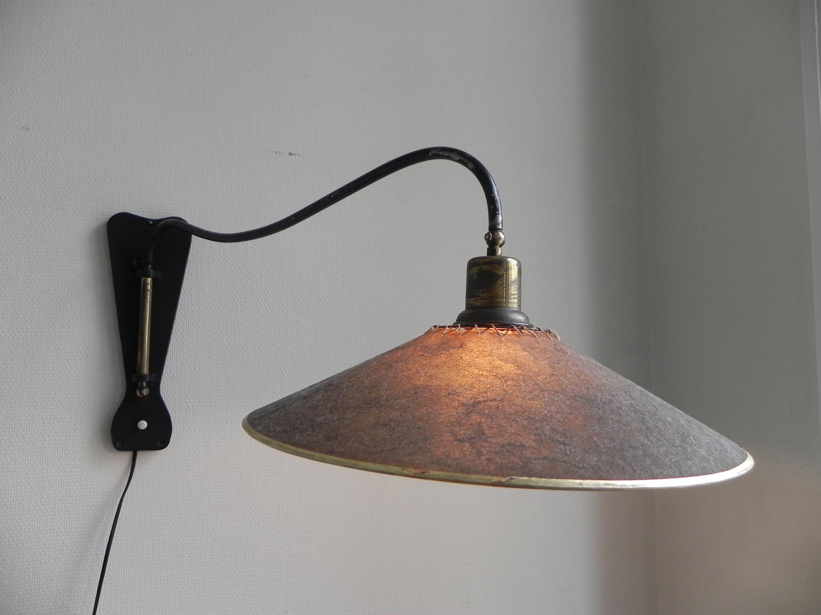 Vintage Belgian Adjustable Wall Lamp, 1950s for sale at Pamono