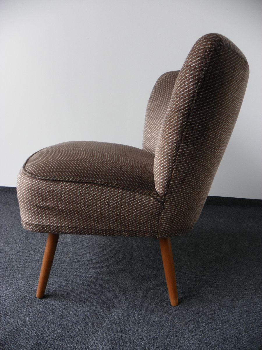 vintage cocktail sessel mit holzbeinen 1950er bei pamono. Black Bedroom Furniture Sets. Home Design Ideas