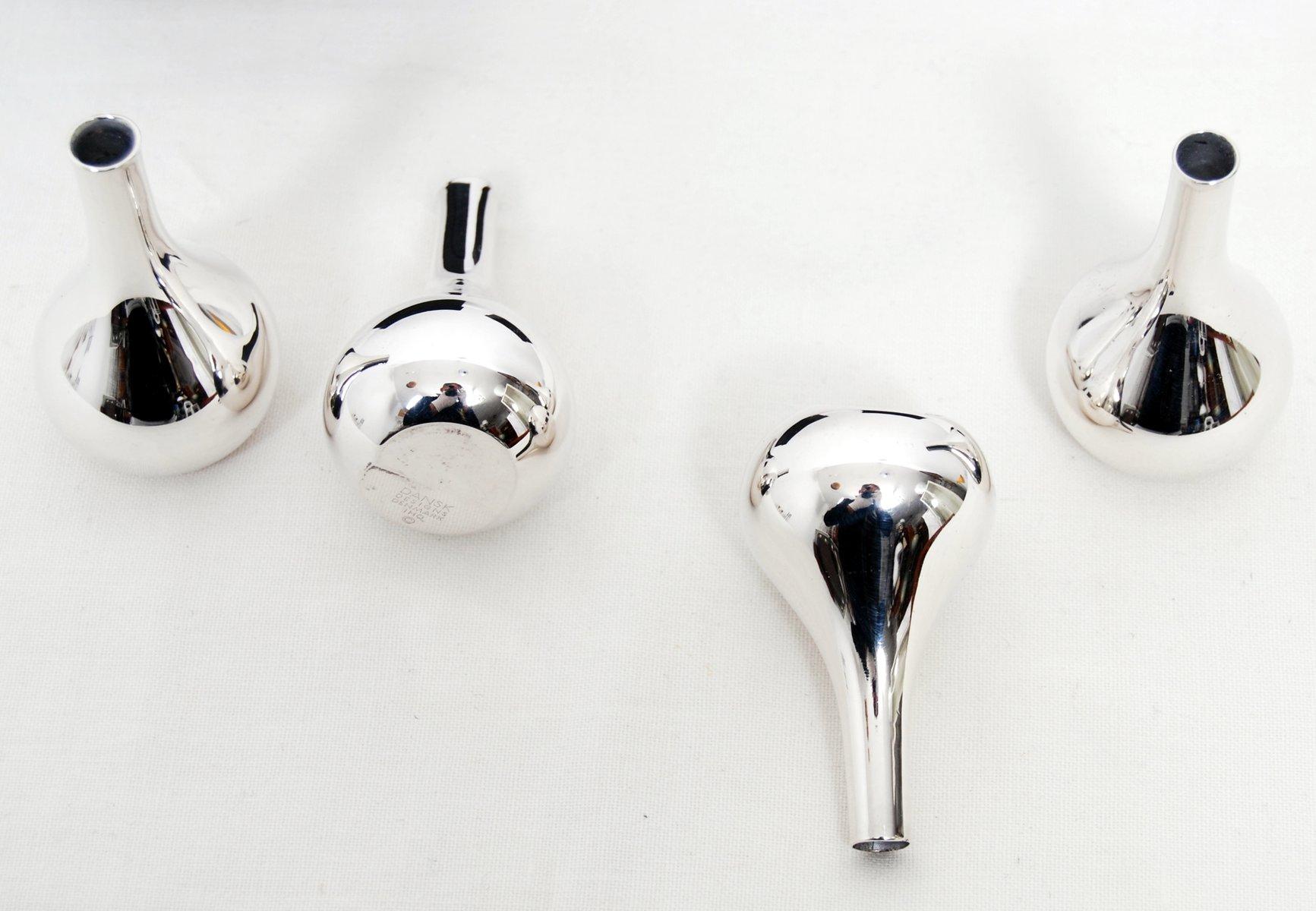 Vintage Danish Candlesticks by Jens Quistgaard for Dansk Design, Set of 4 for sale at Pamono