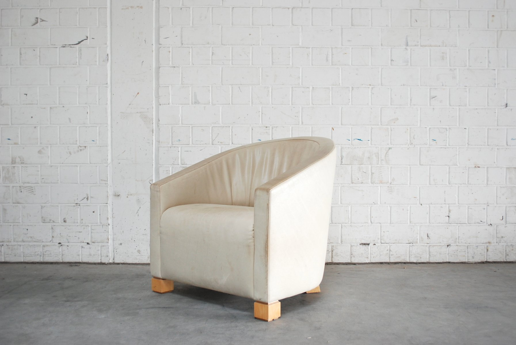 Sessel aus cremefarbenem leder von paolo piva f r de sede for Sessel aus leder