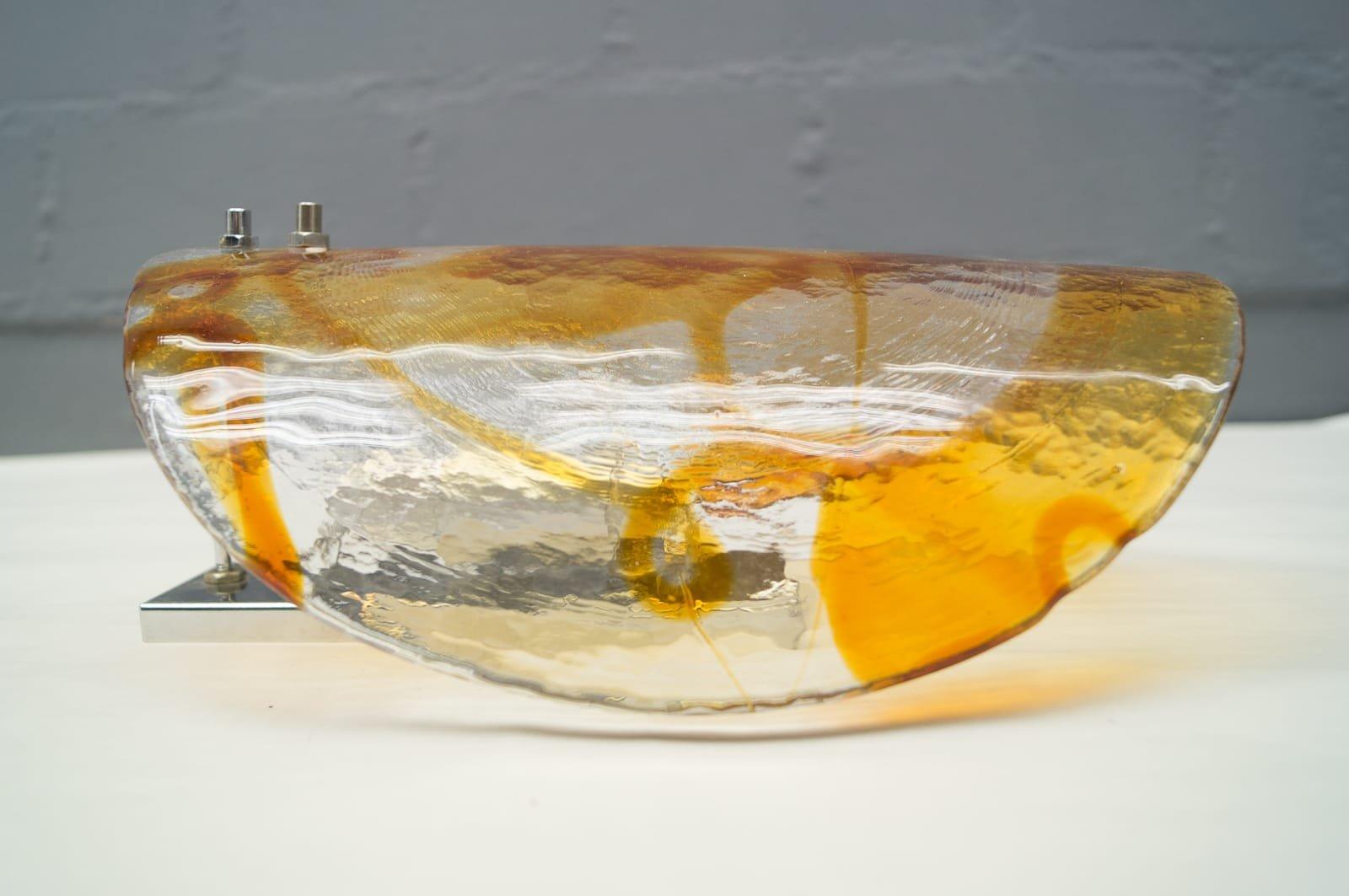 applique murale en chrome et verre murano avec des ajouts orange 1960s en vente sur pamono. Black Bedroom Furniture Sets. Home Design Ideas
