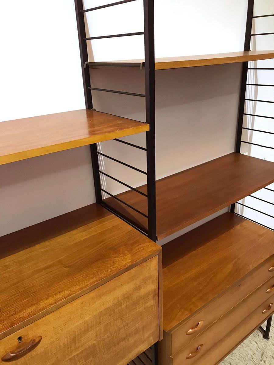 modulares ladderax regalsystem von staples 1960er bei. Black Bedroom Furniture Sets. Home Design Ideas