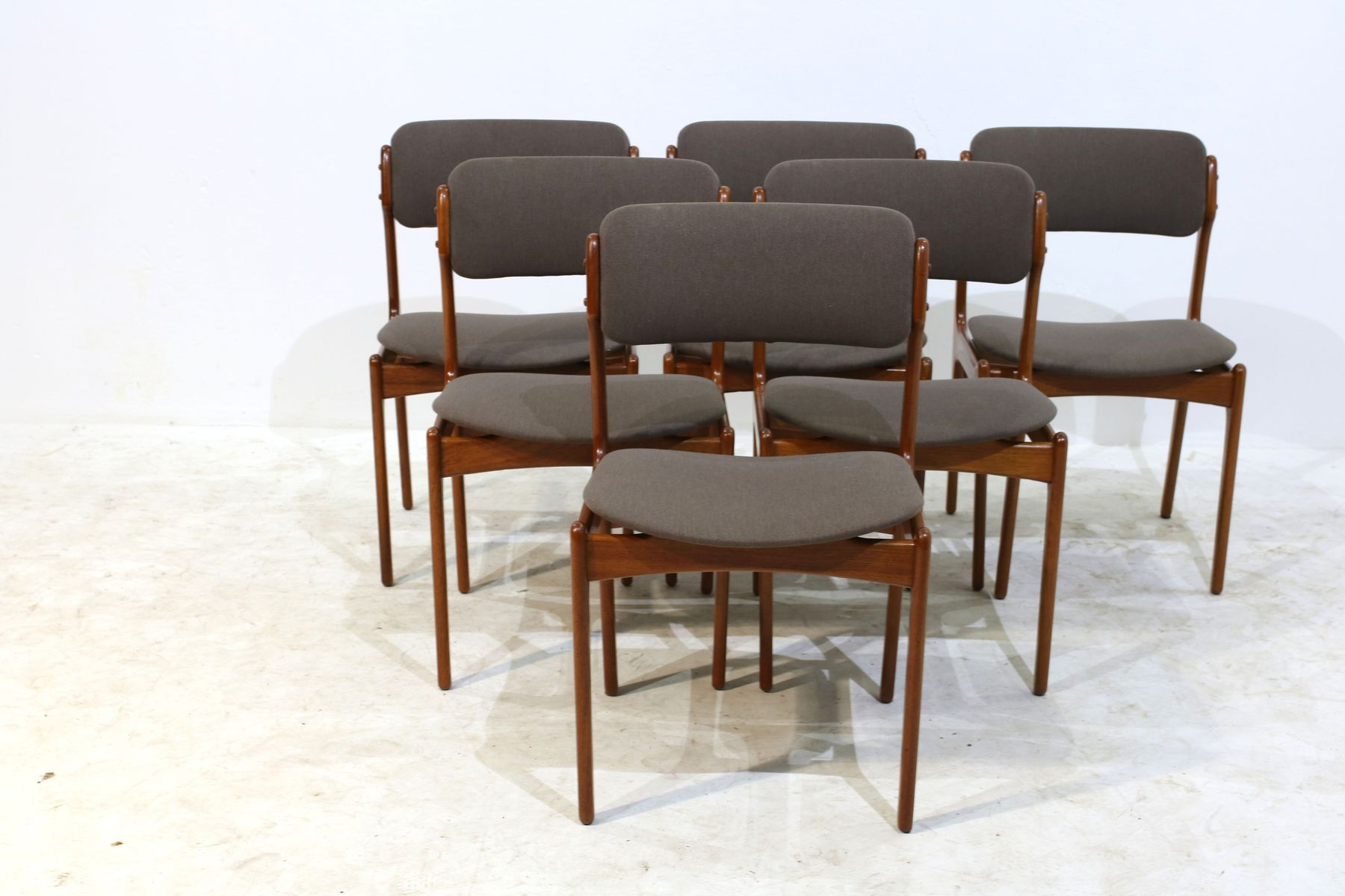 teak dining chairs by erik buch for oddense as 1960s set