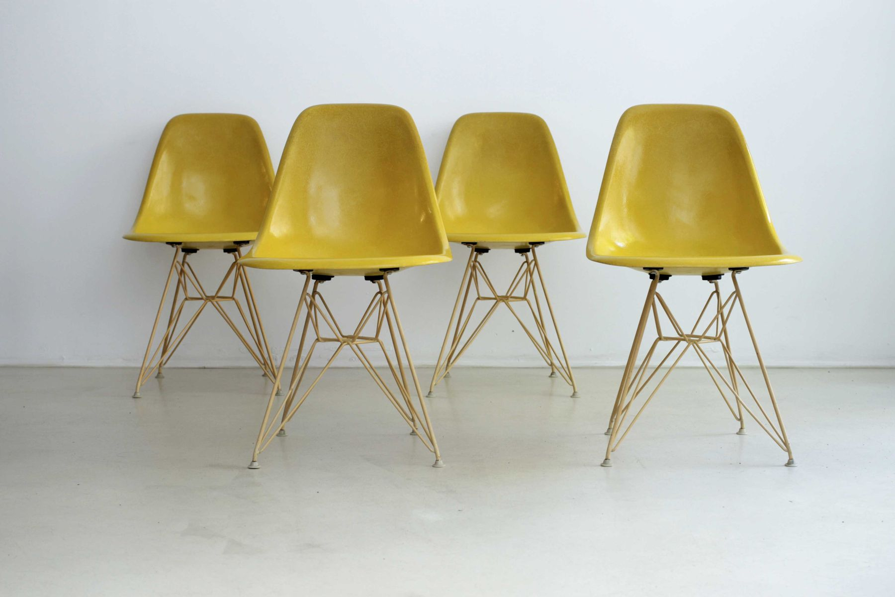 DSR Chairs by Charles Eames for Herman Miller 1960 Set of 4 for