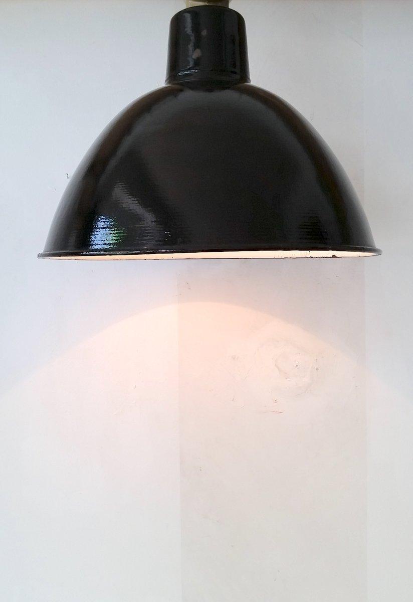 emaillierte vintage industrie lampe von lbl bei pamono kaufen. Black Bedroom Furniture Sets. Home Design Ideas