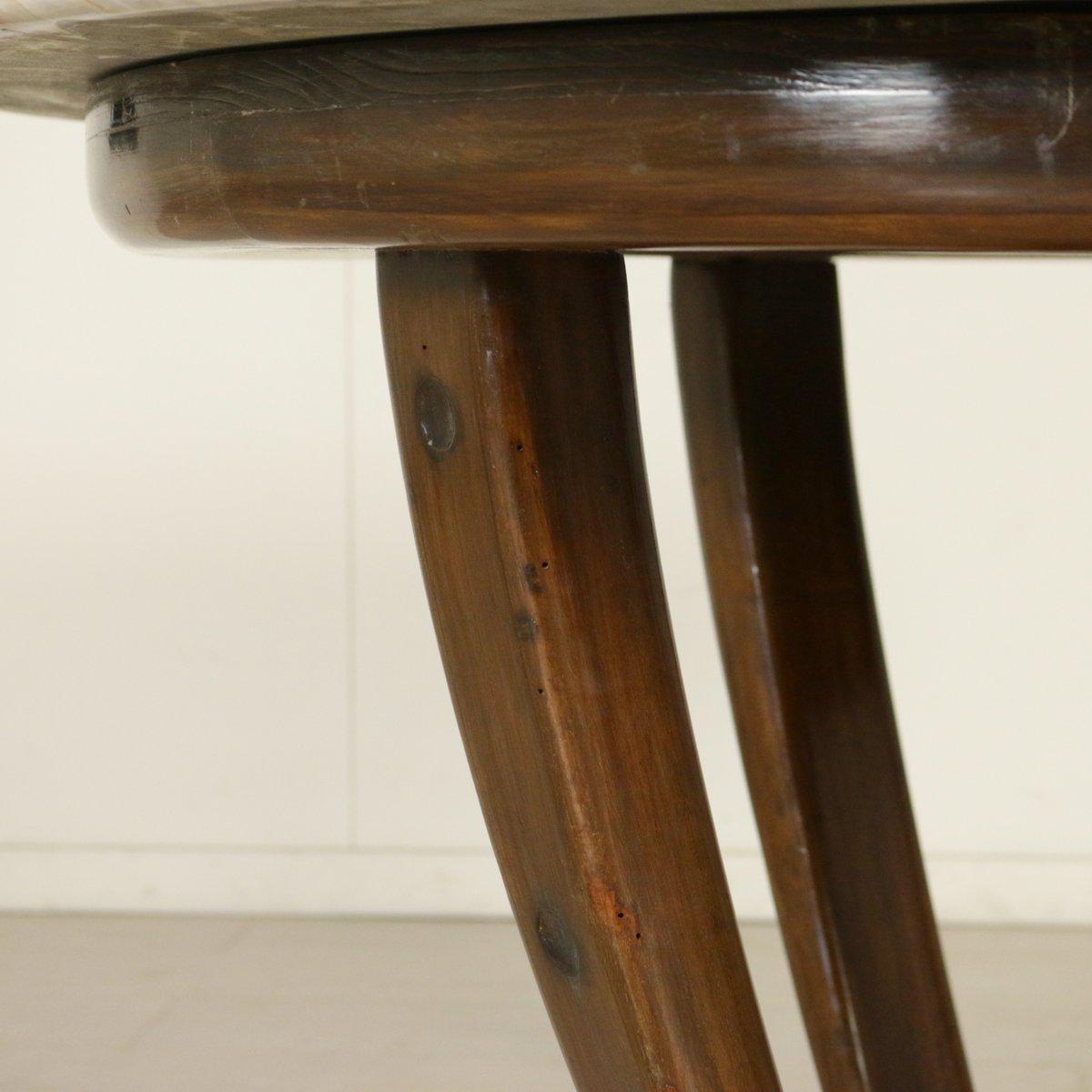 Italienischer vintage tisch aus gebeiztem walnuss marmor for Tisch aus marmor