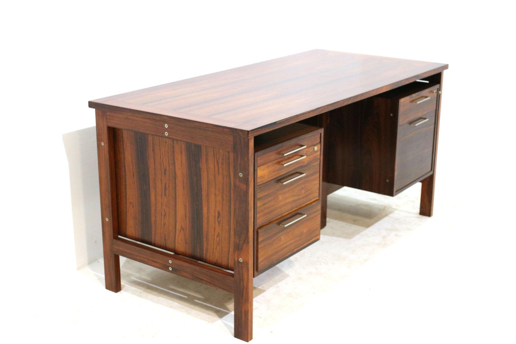 d nischer palisander schreibtisch 1980er bei pamono kaufen. Black Bedroom Furniture Sets. Home Design Ideas