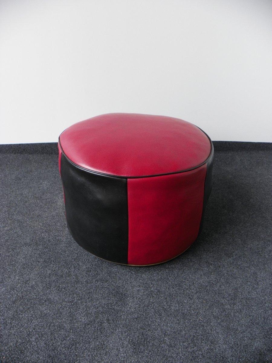 vintage sitzkissen in rot schwarz 1970er bei pamono kaufen. Black Bedroom Furniture Sets. Home Design Ideas
