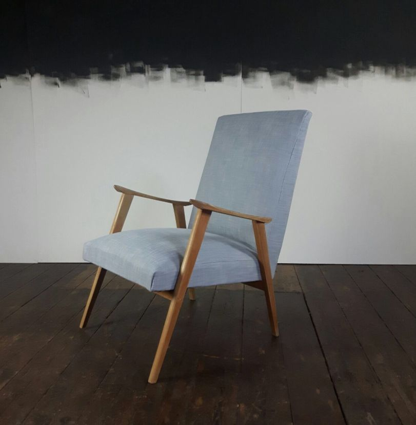 skandinavischer mid century sessel aus baumwolle bei. Black Bedroom Furniture Sets. Home Design Ideas