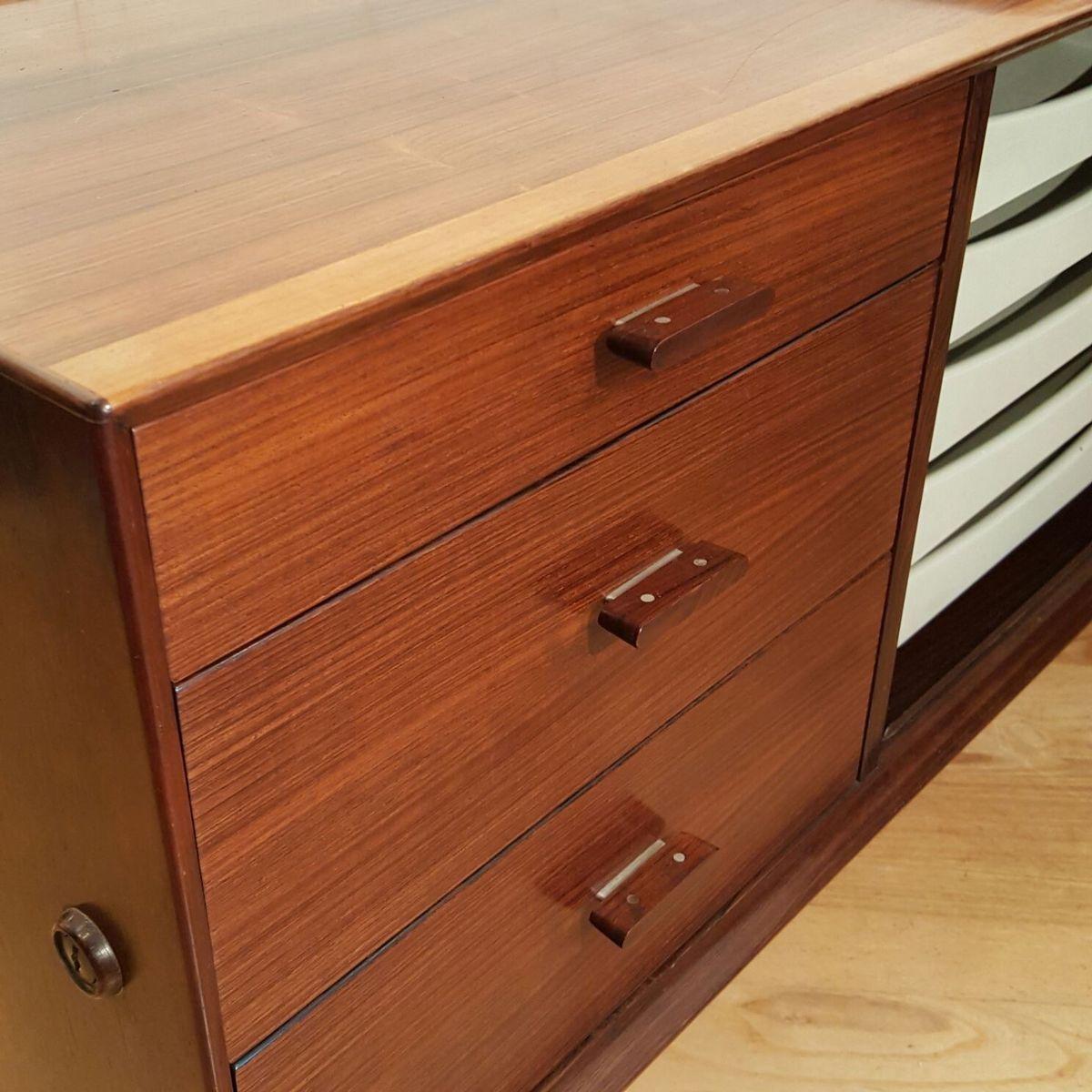 palisander pr sidenten schreibtisch von arne vodder f r. Black Bedroom Furniture Sets. Home Design Ideas