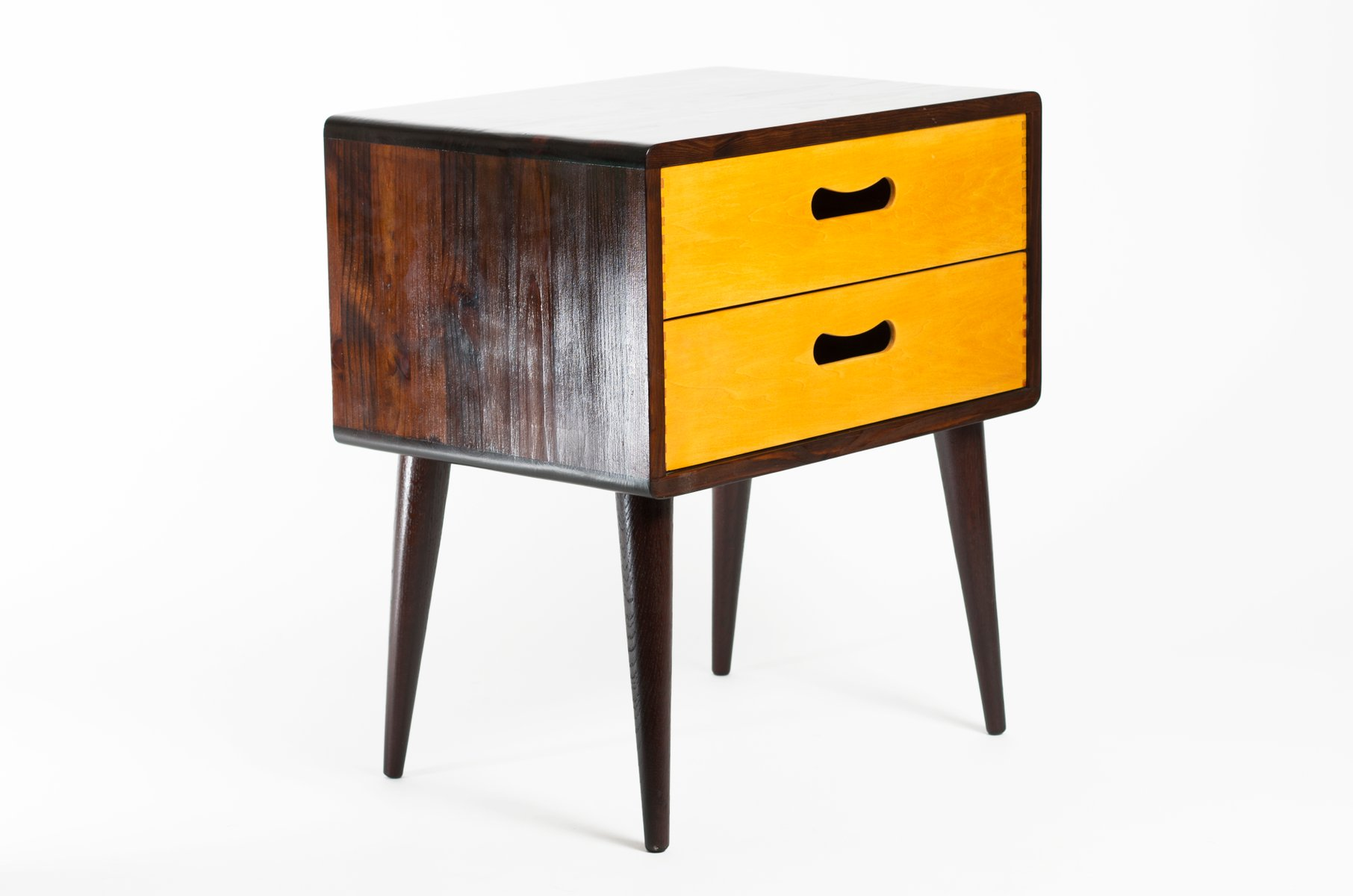 Mid century double drawer side table for sale at pamono for Large side table with drawers