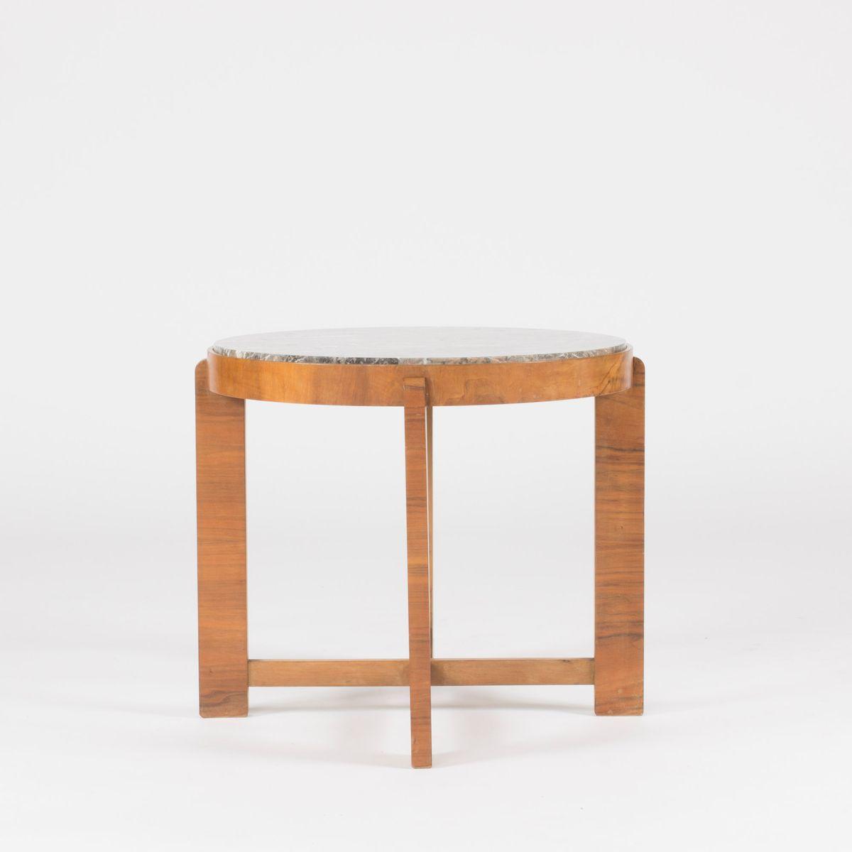 beistelltisch aus marmor und mahagoni 1940er bei pamono. Black Bedroom Furniture Sets. Home Design Ideas