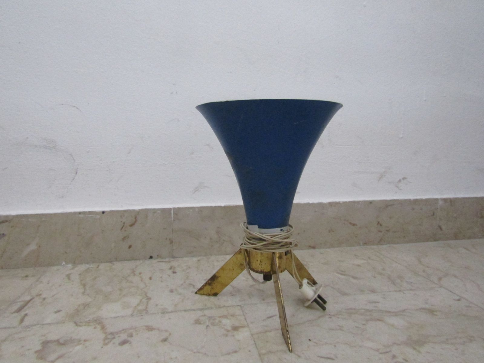 Small blue table lamp 1960s for sale at pamono small blue table lamp 1960s geotapseo Choice Image
