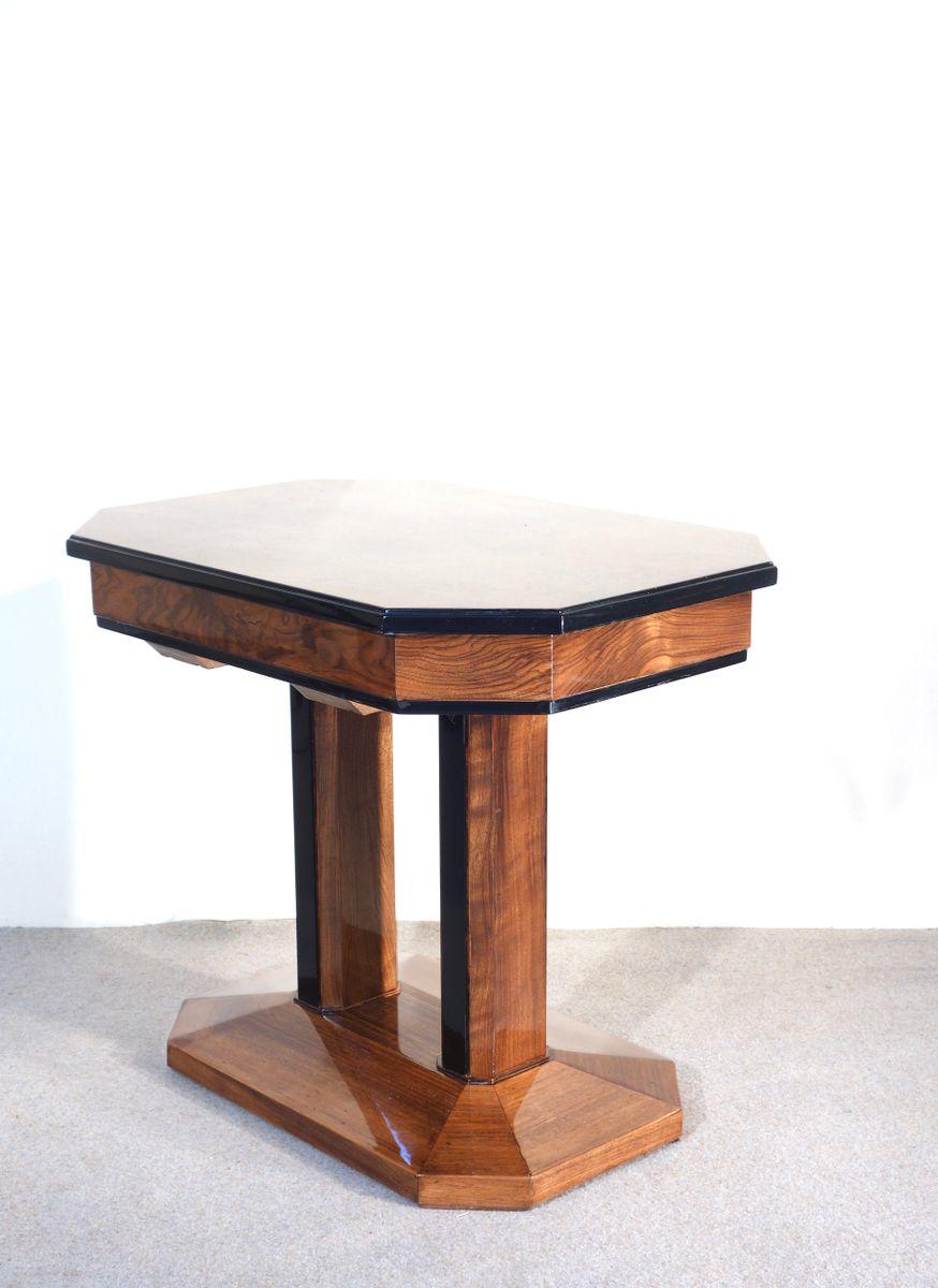 art deco walnuss beistelltisch 1930er bei pamono kaufen. Black Bedroom Furniture Sets. Home Design Ideas