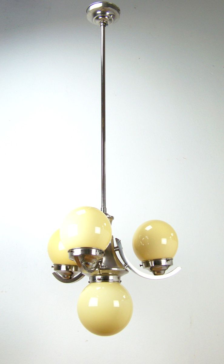 chandelier chrom 1930s en vente sur pamono. Black Bedroom Furniture Sets. Home Design Ideas