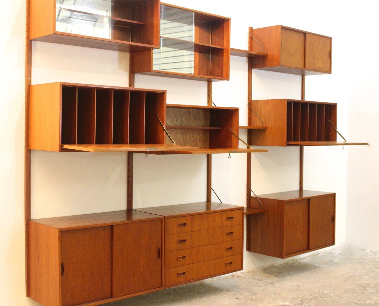 Libreria modulare in teak di poul cadovius danimarca for Libreria modulare