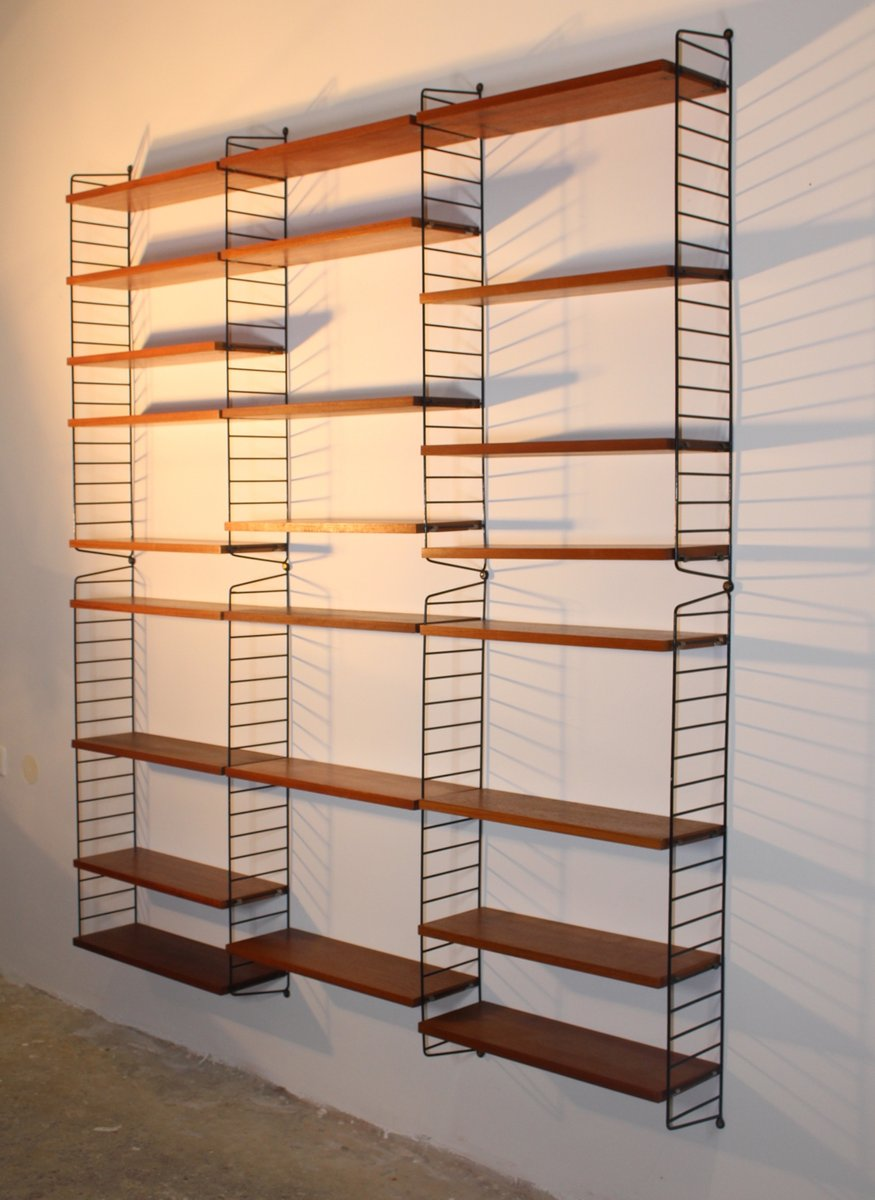 ladder shelf by nisse strinning for string 1950s for sale at pamono. Black Bedroom Furniture Sets. Home Design Ideas