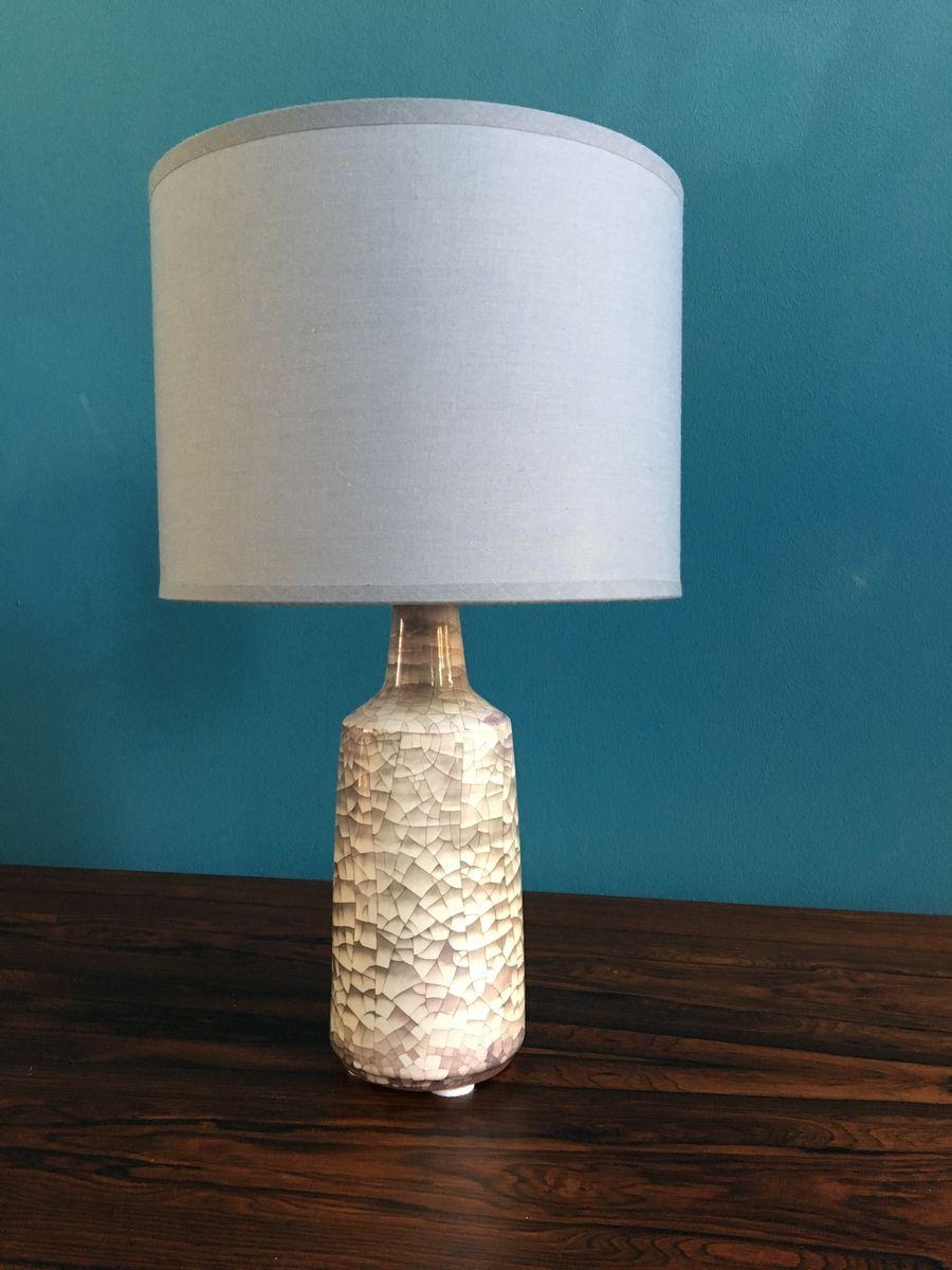 d nische vintage keramik tischlampe mit krakelee glasur. Black Bedroom Furniture Sets. Home Design Ideas