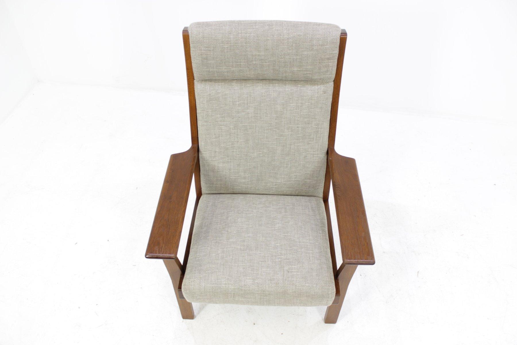 Vintage GE181A High Back Easy Chair by Hans J Wegner for Getama