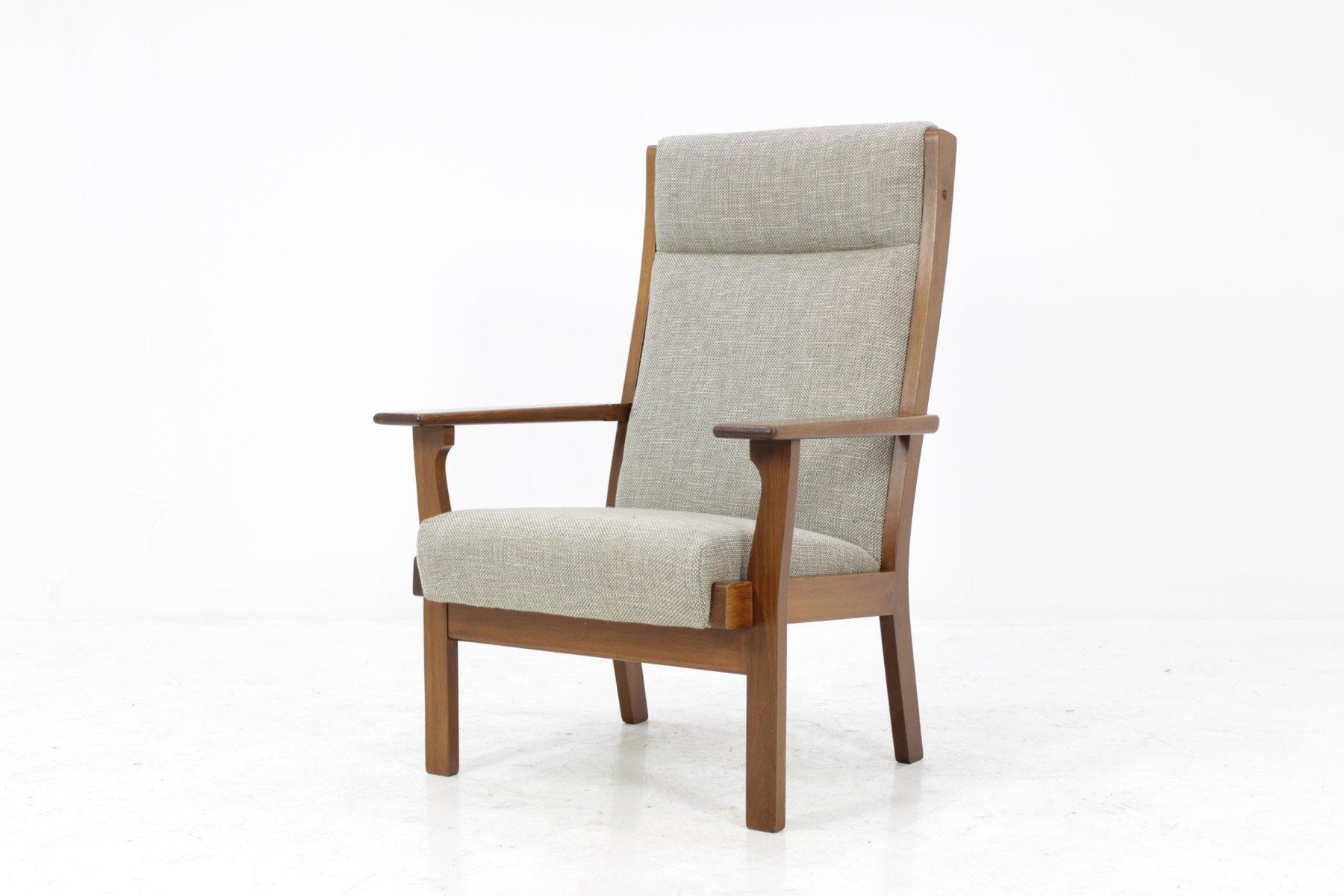 vintage ge181a sessel mit hoher r ckenlehne von hans j wegner f r getama bei pamono kaufen. Black Bedroom Furniture Sets. Home Design Ideas