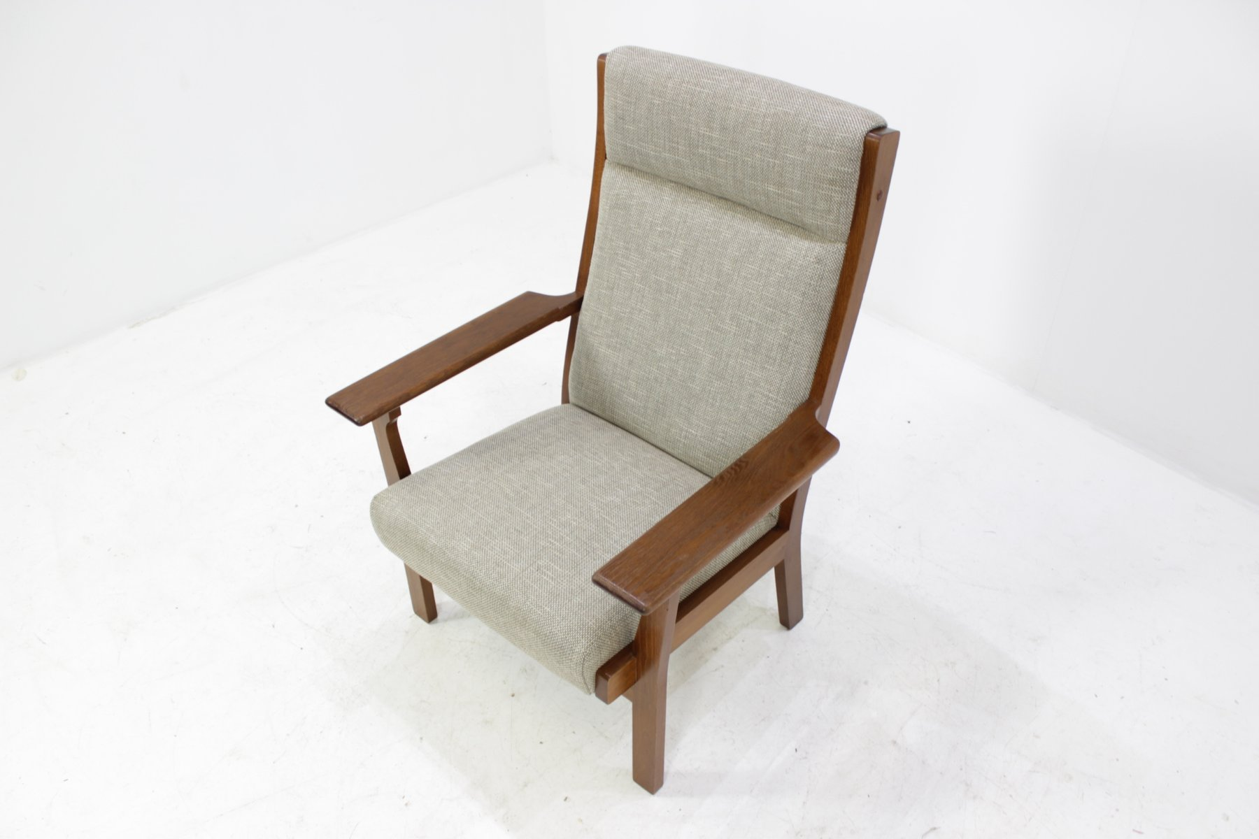 vintage ge181a sessel mit hoher r ckenlehne von hans j. Black Bedroom Furniture Sets. Home Design Ideas