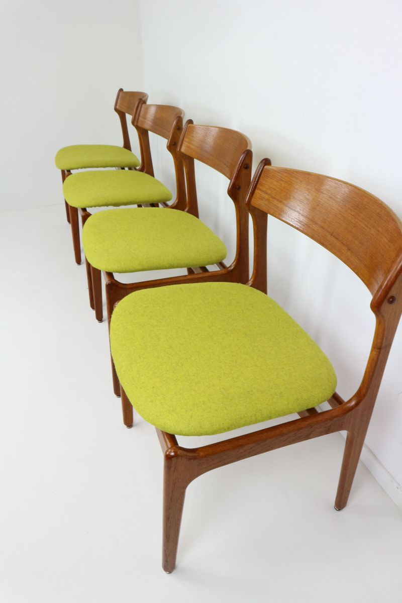 Vintage Dining Chairs By Erik Buck For O D Mobler Set Of 4 For Sale At Pamono