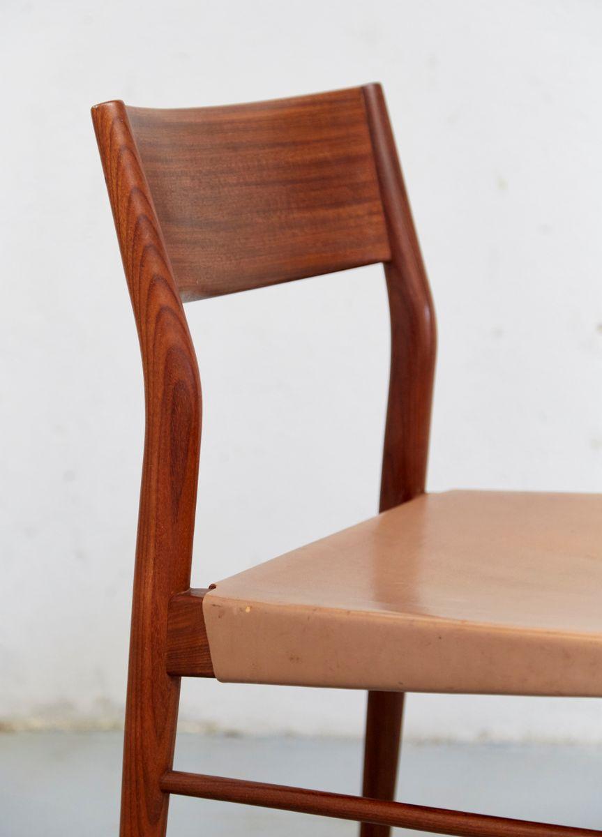 vintage esszimmerst hle aus teak leder von georg leowald f r wilkhahn 6er set bei pamono kaufen. Black Bedroom Furniture Sets. Home Design Ideas