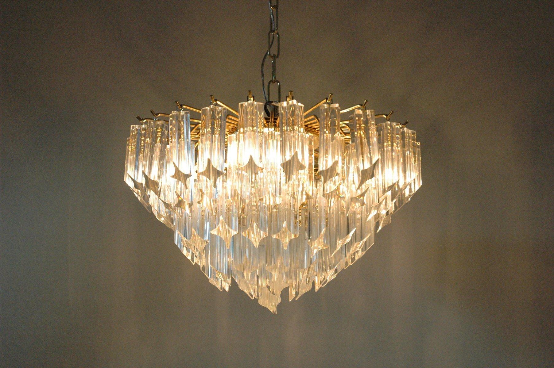 chandelier quadrilobi vintage en verre de murano par paolo venini for novaresi en vente sur pamono. Black Bedroom Furniture Sets. Home Design Ideas
