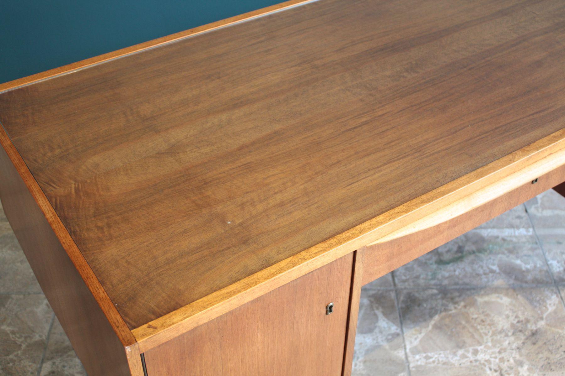 Bureau en bois verre allemagne 1950s en vente sur pamono - Bureau bois verre ...