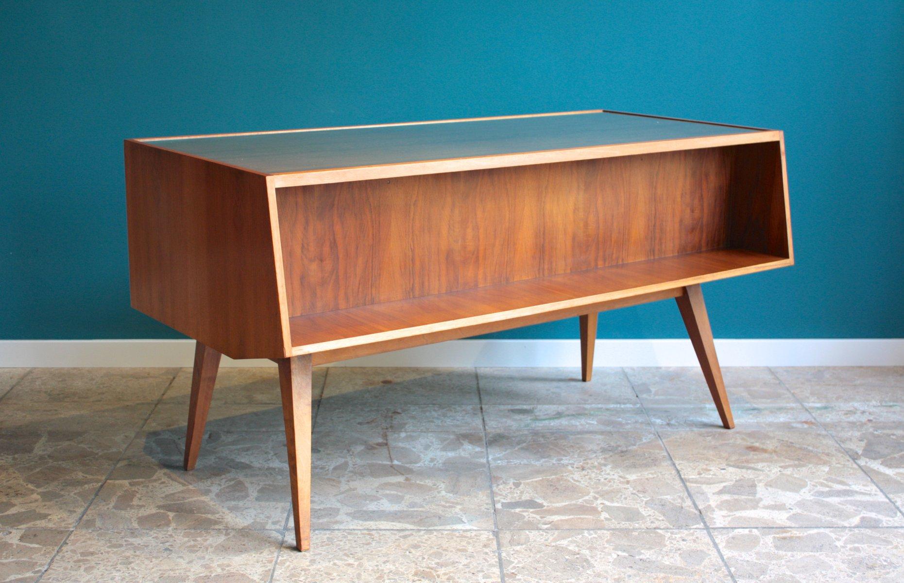 bureau en bois verre allemagne 1950s en vente sur pamono. Black Bedroom Furniture Sets. Home Design Ideas