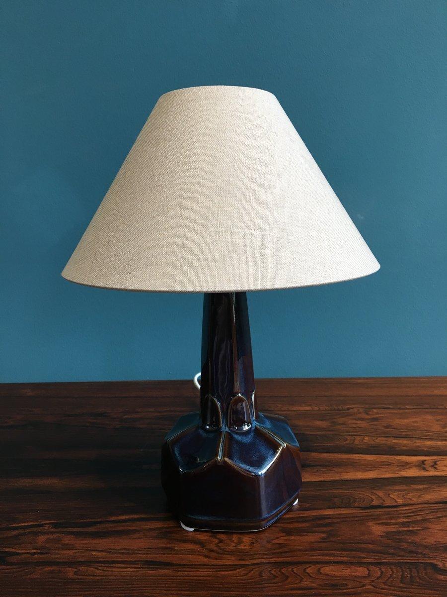 petite lampe de bureau en c ramique par einar johansen pour soholm stentoj danemark 1960s en. Black Bedroom Furniture Sets. Home Design Ideas