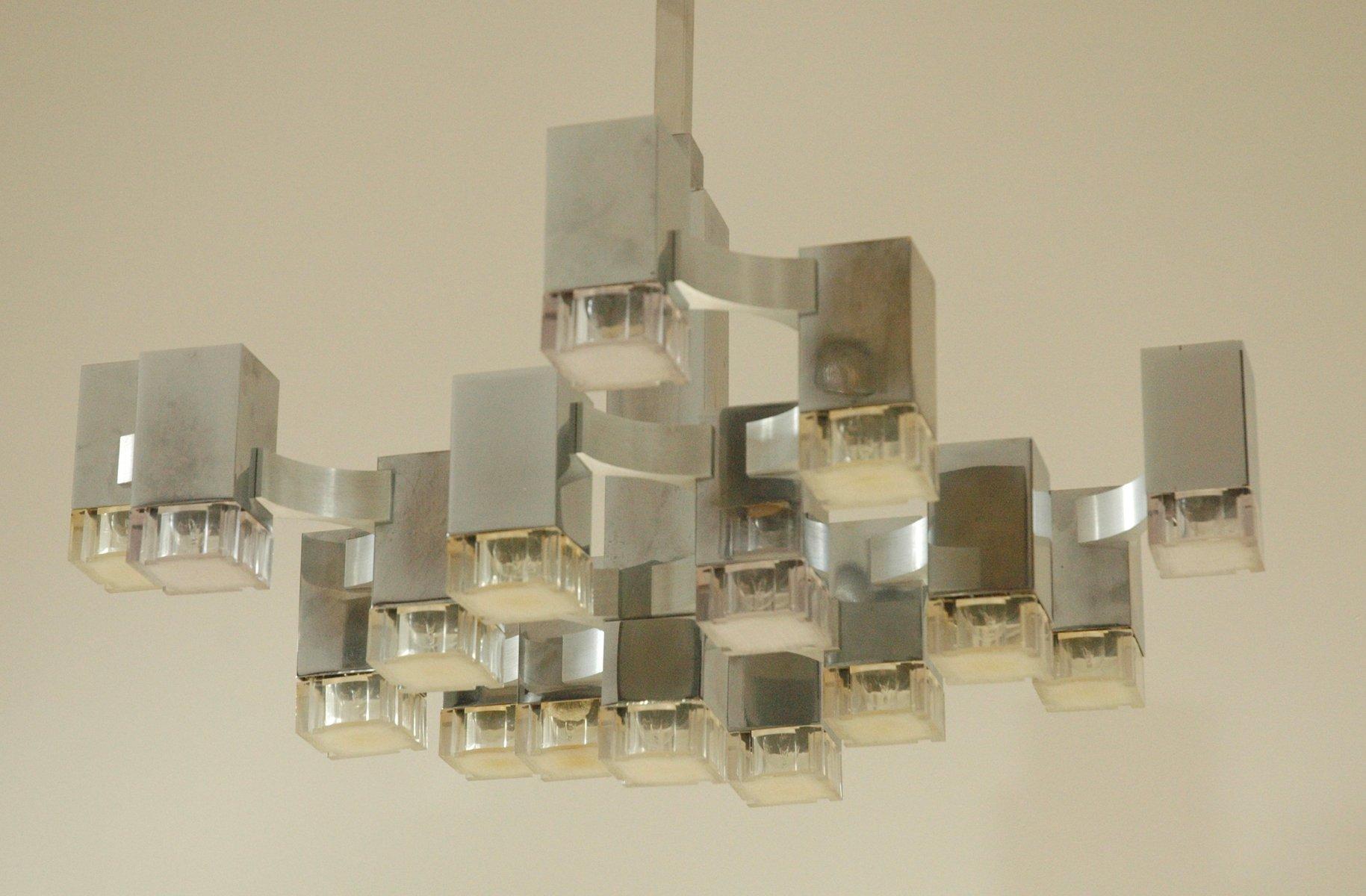 Beste Wohngestaltung Interessantes Wohndesign Sciolari Cubic. Kubischer  Italienischer Vintage 17 Leuchten Kronleuchter Von .