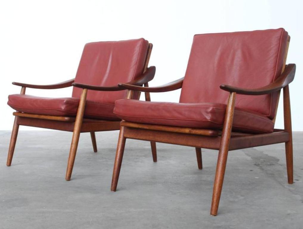 vintage leder teak sessel von kurt ostervig f r jason. Black Bedroom Furniture Sets. Home Design Ideas