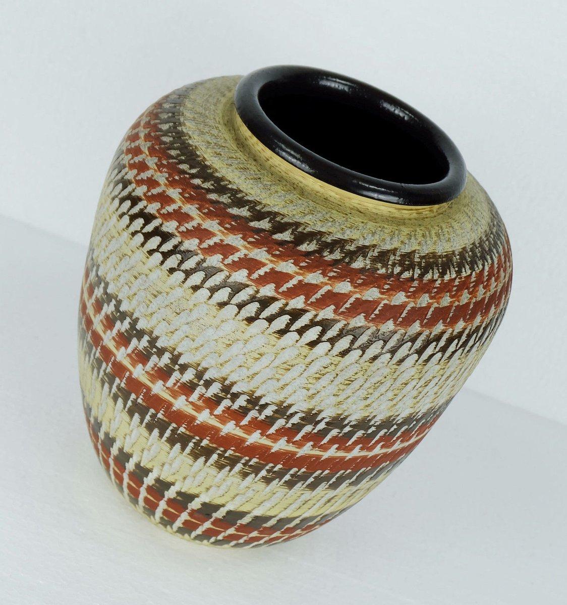 post bauhaus art deco vase from duemler breiden for sale at pamono. Black Bedroom Furniture Sets. Home Design Ideas