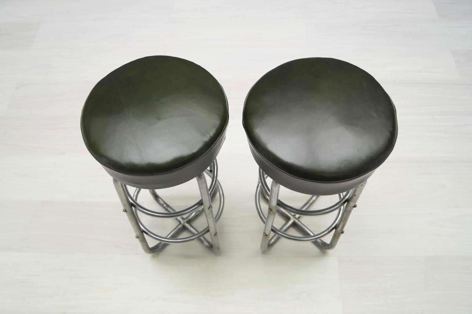 bauhaus art deco stahlrohr hocker 2er set bei pamono kaufen. Black Bedroom Furniture Sets. Home Design Ideas