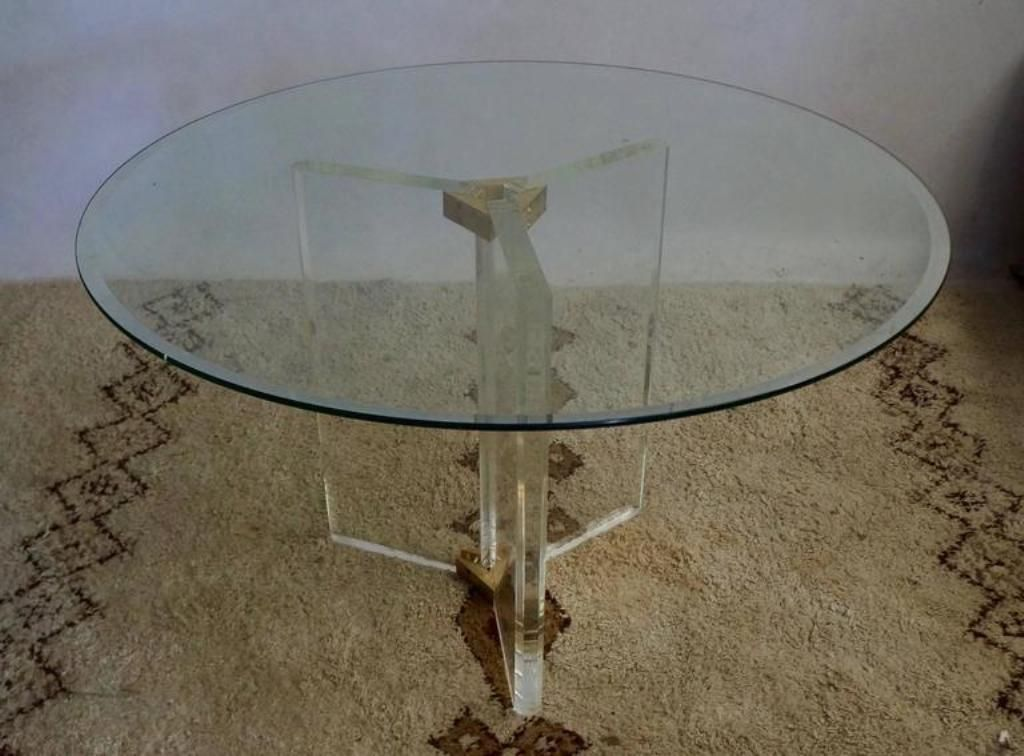 Vintage dining table from roche bobois for sale at pamono - Table ovale marbre roche bobois ...